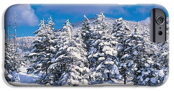 Snow Drifts Photographs iPhone Cases - Chino Nagano Japan iPhone Case by Panoramic Images