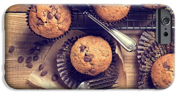 Sponge iPhone Cases - Choc Chip Muffins iPhone Case by Amanda And Christopher Elwell
