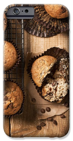 Chip iPhone Cases - Chocolate Chip Muffins iPhone Case by Amanda And Christopher Elwell