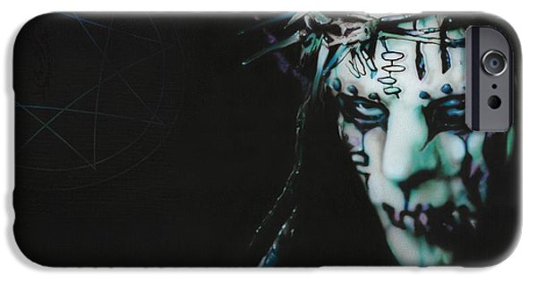 Heavy Metal Paintings iPhone Cases - #1 iPhone Case by Christian Chapman Art