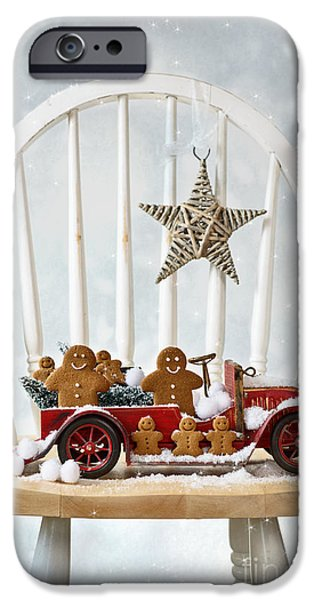 Christmas iPhone Cases - Christmas Gingerbread iPhone Case by Amanda And Christopher Elwell