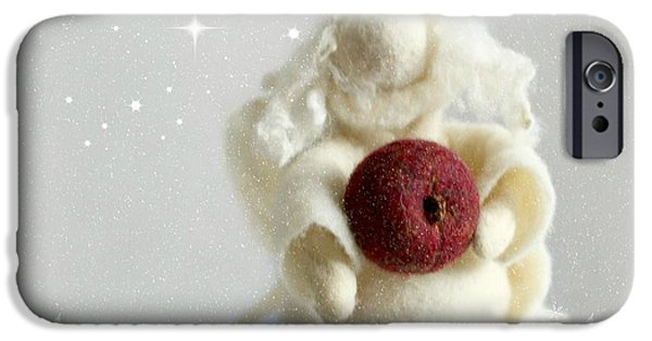 Night Angel iPhone Cases - Christmas iPhone Case by Heike Hultsch