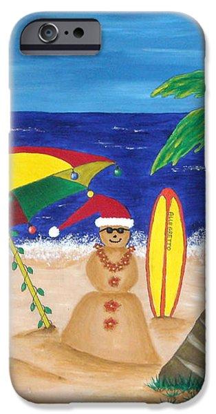Christmas In Kona iPhone Case by Pamela Allegretto