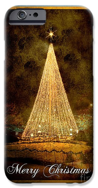 Christmas Tree in the City iPhone Case by Cindy Singleton