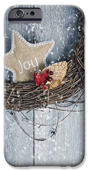 Wreath iPhone Cases - Christmas Wreath iPhone Case by Amanda And Christopher Elwell