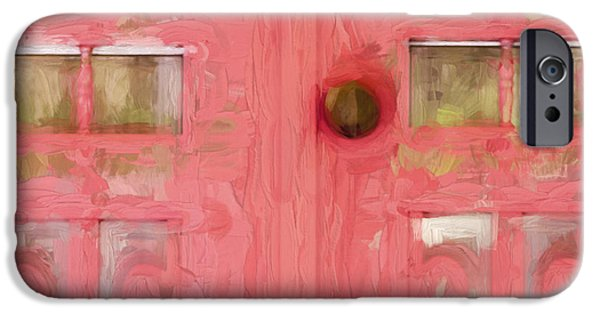 Martha iPhone Cases - Church Camp House Detail Painterly Series 18 iPhone Case by Carol Leigh