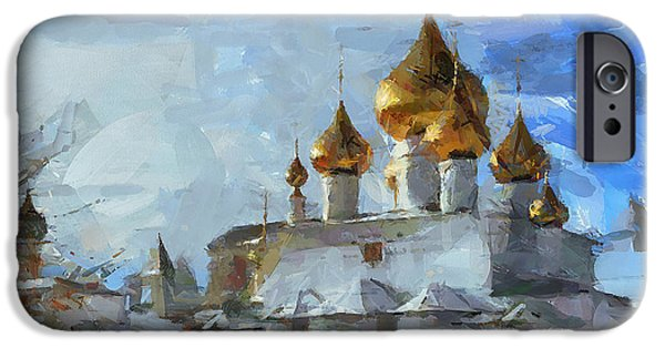 Fantastic Gifts iPhone Cases - Church in Winter iPhone Case by Yury Malkov