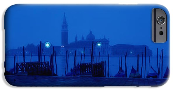 Night Lamp iPhone Cases - Church Of San Giorgio Maggiore iPhone Case by Panoramic Images