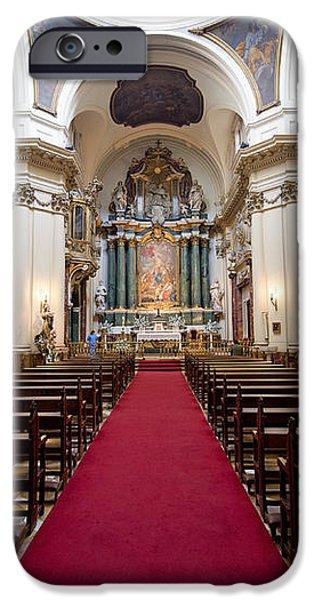 Church of Santa Barbara Interior in Madrid iPhone Case by Artur Bogacki