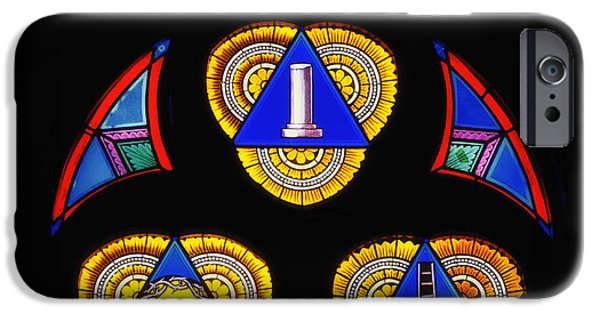 Stained Glass Glass Art iPhone Cases - Church Stained Glass iPhone Case by Mountain Dreams