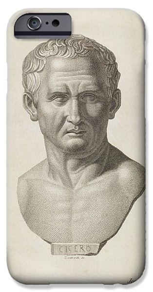 Orator iPhone Cases - Cicero, Roman Philosopher iPhone Case by Middle Temple Library