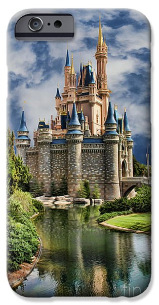 Cinderella Castle II iPhone Case by Lee Dos Santos