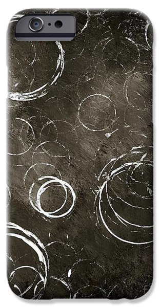 Michael Mixed Media iPhone Cases - Circles iPhone Case by Mike Grubb