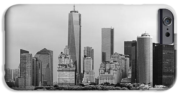 Freedom iPhone Cases - City - NY - The financial district iPhone Case by Mike Savad