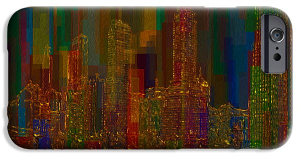 Shape iPhone Cases - Cityscape 5 iPhone Case by Jack Zulli