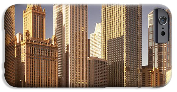 Il iPhone Cases - Cityscape Chicago Il Usa iPhone Case by Panoramic Images