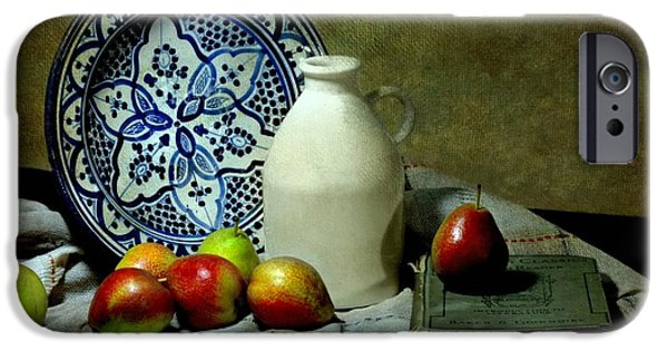 Still Life With Pitcher iPhone Cases - Classic Blue iPhone Case by Diana Angstadt