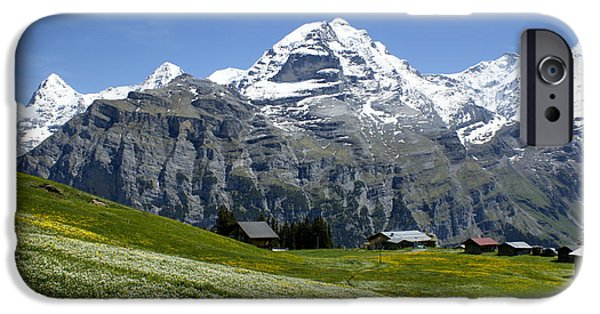 Grindelwald iPhone Cases - Classic Swiss Alps iPhone Case by Brian Kamprath