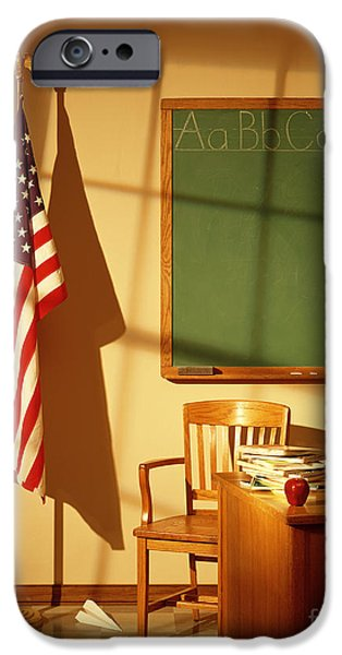 Old Glory iPhone Cases - Classroom iPhone Case by Tony Cordoza