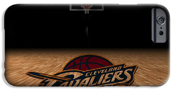 Division iPhone Cases - Cleveland Cavaliers iPhone Case by Joe Hamilton