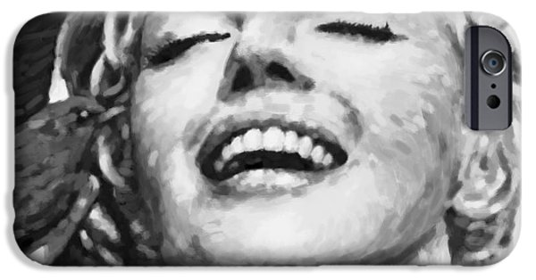 Imitation iPhone Cases - Close Up Beautifully Happy In Black And White iPhone Case by Atiketta Sangasaeng