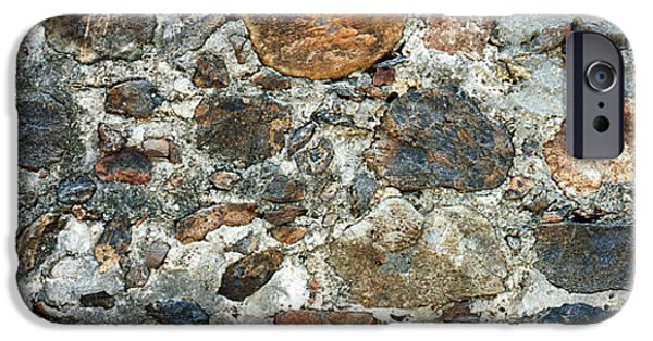 Texture iPhone Cases - Close-up Of A Stone Wall, St. John, Us iPhone Case by Panoramic Images
