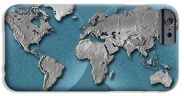 Three Dimensional iPhone Cases - Close-up Of A World Map iPhone Case by Panoramic Images