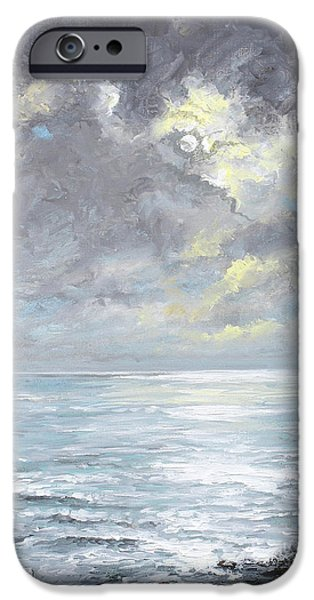 Sun Breaking Through Clouds iPhone Cases - Cloudburst iPhone Case by Sandra  Francis