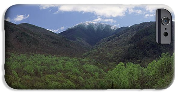 Mountain iPhone Cases - Clouds Over Mountains, Great Smoky iPhone Case by Panoramic Images