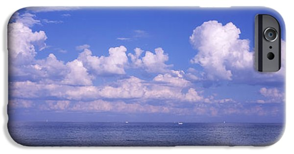 Manatee iPhone Cases - Clouds Over The Sea, Tampa Bay, Gulf Of iPhone Case by Panoramic Images