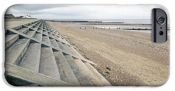 North Sea iPhone Cases - Coastal Defenses, Norfolk iPhone Case by Colin Cuthbert