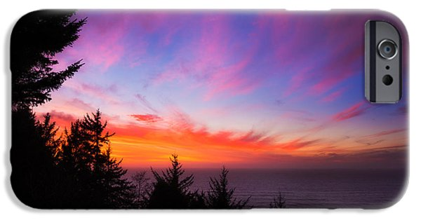 Sunset Framed Prints iPhone Cases - Coastal Skies iPhone Case by Darren  White