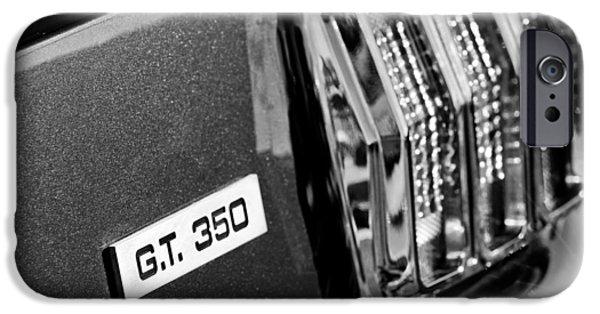 Cobra iPhone Cases - Cobra GT 350 Taillight Emblem iPhone Case by Jill Reger