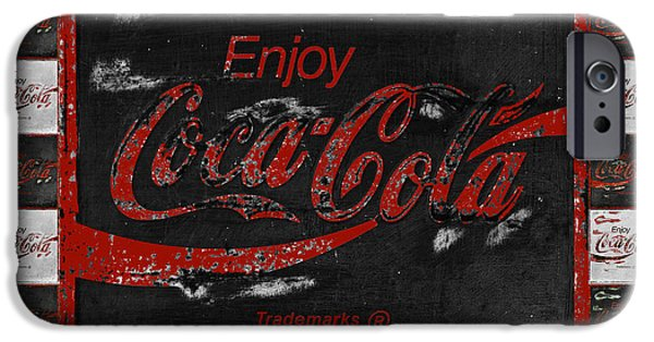 Coca-cola Signs iPhone Cases - Coca Cola Signs iPhone Case by John Stephens