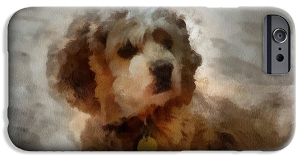 Puppy Iphone Case iPhone Cases - Cocker Spaniel Photo Art 01 iPhone Case by Thomas Woolworth
