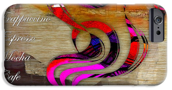 Coffee iPhone Cases - Coffee House Menu iPhone Case by Marvin Blaine