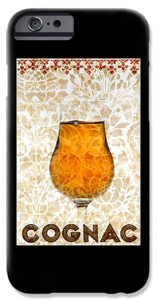 Red Wine Prints iPhone Cases - Cognac iPhone Case by Frank Tschakert