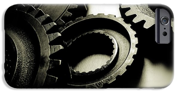 Interlocked iPhone Cases - Cogs iPhone Case by Les Cunliffe