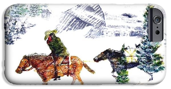 Must Paintings iPhone Cases - Cold wind. iPhone Case by Larry Lamb