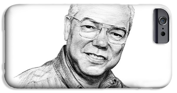 Joint Chiefs iPhone Cases - Colin Powell iPhone Case by Lou Ortiz