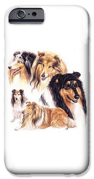 Dogs iPhone Cases - Collie iPhone Case by Barbara Keith
