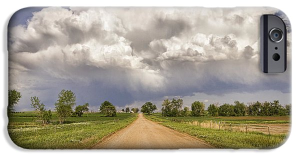 Sly iPhone Cases - Colorado Country Road Stormin Skies iPhone Case by James BO  Insogna