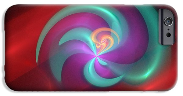 Action Lines Digital Art iPhone Cases - Colorful abstract background  iPhone Case by Odon Czintos