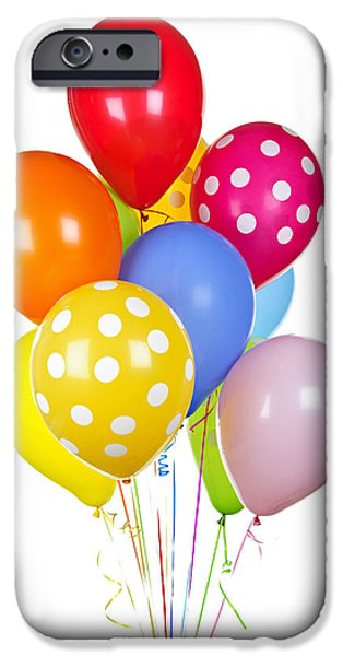 Balloon iPhone Cases - Colorful balloons iPhone Case by Elena Elisseeva