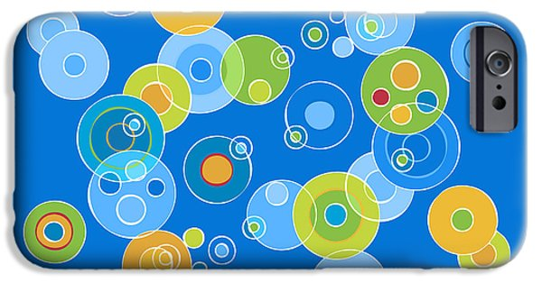 Colorful Abstract iPhone Cases - Colorful Circles iPhone Case by Frank Tschakert