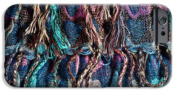 Sheets iPhone Cases - Colorful scarf iPhone Case by Tom Gowanlock