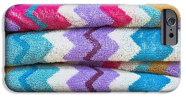 Absorb iPhone Cases - Colorful towels iPhone Case by Tom Gowanlock
