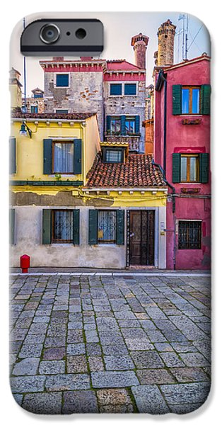 House iPhone Cases - Colorful Venetian Houses iPhone Case by Francesco Rizzato