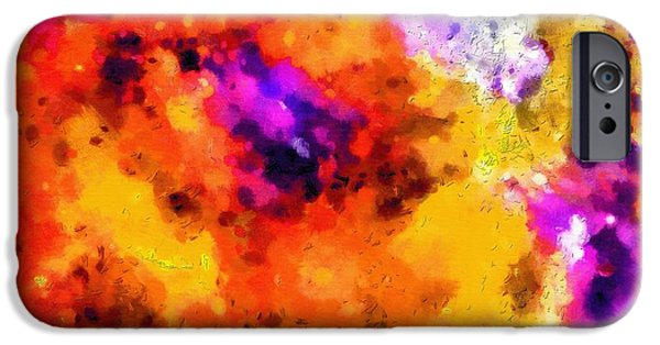 Outer Space Paintings iPhone Cases - Colors of deep space iPhone Case by Magomed Magomedagaev