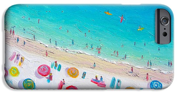 House Art iPhone Cases - Colors of the Beach iPhone Case by Jan Matson